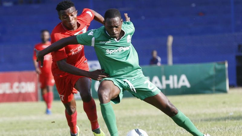 Charles Momanyi in action in the Kenyan Premier League