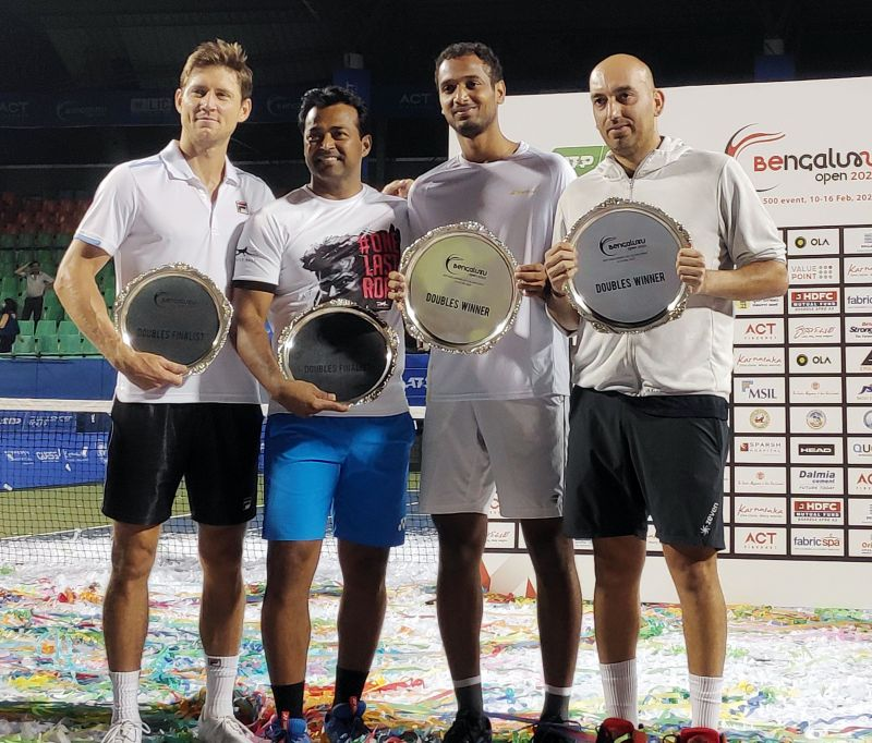 The doubles finalists of the Bengaluru Open 2020