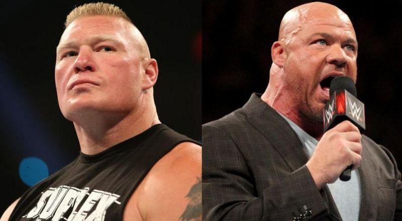 Lesnar and Angle