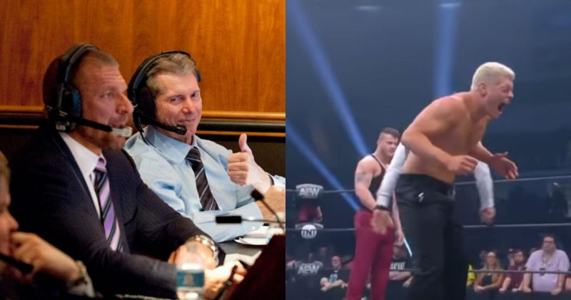 Vince seems to be indifferent to AEW (Pic source: WWE/AEW)