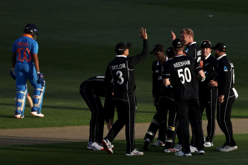 New Zealand with a new look bowling attack restricted India in a chase of 274