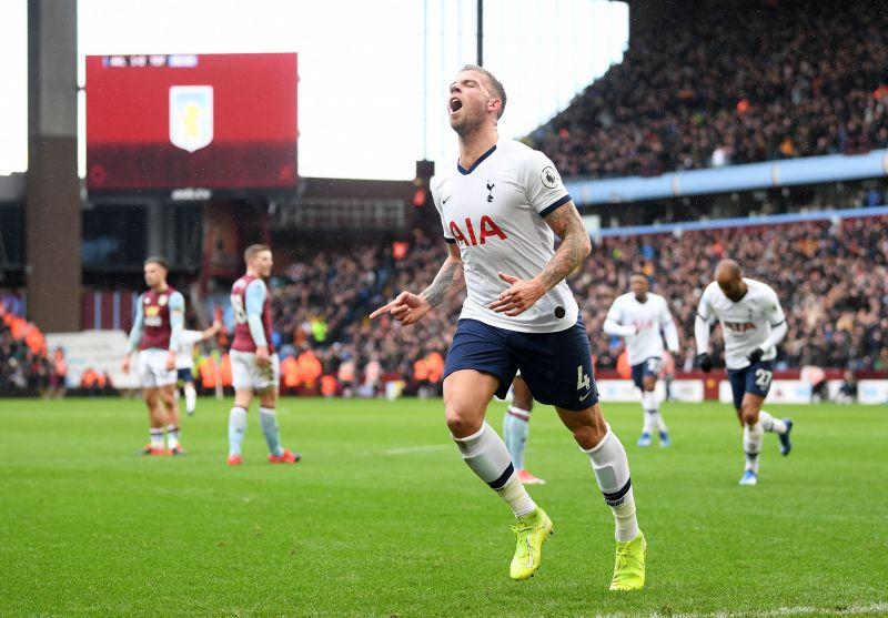 Toby Alderweireld after scoring for Tottenham Hotspur