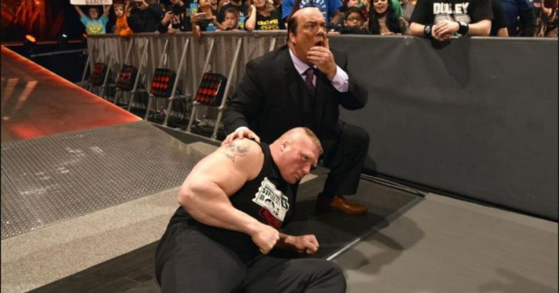 Brock Lesnar and Paul Heyman.