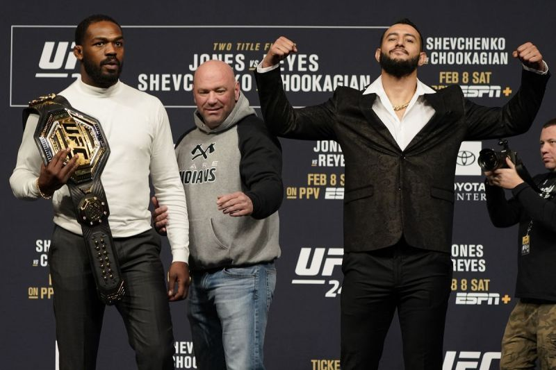Dominick Reyes and Jon Jones (left) will face-off at UFC 247 (Image courtesy: Bloody Elbow)