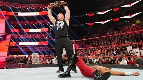 Brock Lesnar versus Ricochet should not be a squash match.