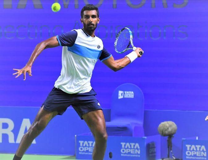 Prajnesh Gunneswaran in action