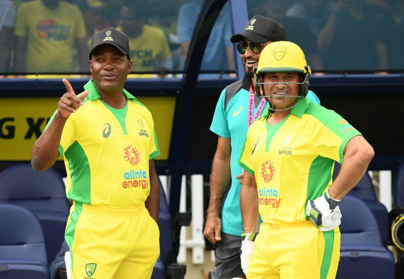 Brian Lara (left) and Sachin Tendulkar (right)