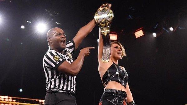 Rhea Ripley after winning the NXT Women