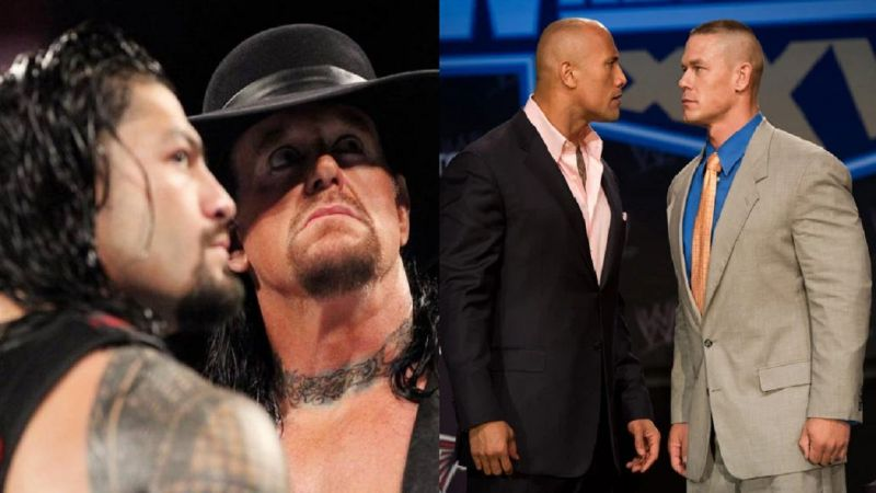 Reigns, The Undertaker, The Rock, and Cena