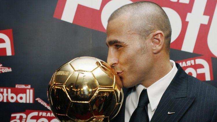 Fabio Cannavaro with the award in 2006