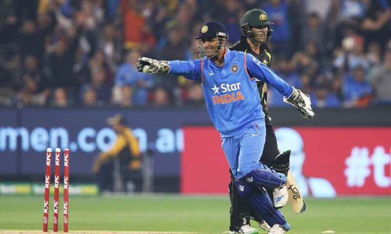 If MS Dhoni is appealing a stumping, the batsman knows he