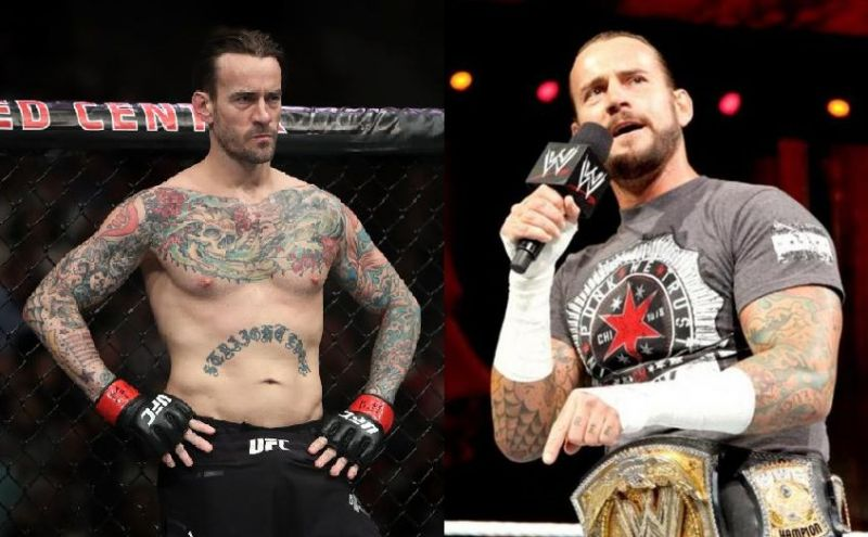 CM Punk in UFC and WWE