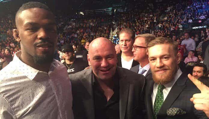 Jones, White and McGregor (image courtesy - bjpenn.com)