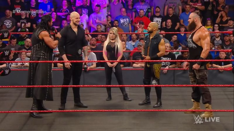 Ricochet and other RAW Superstars on the April 29, 2019 edition of the show