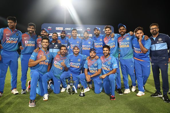 न्यूजीलैंड को टी20 सीरीज में 5-0 से हराने के बाद भारतीय टीम