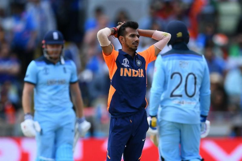 Yuzvendra Chahal has an expensive day at the 2019 World Cup