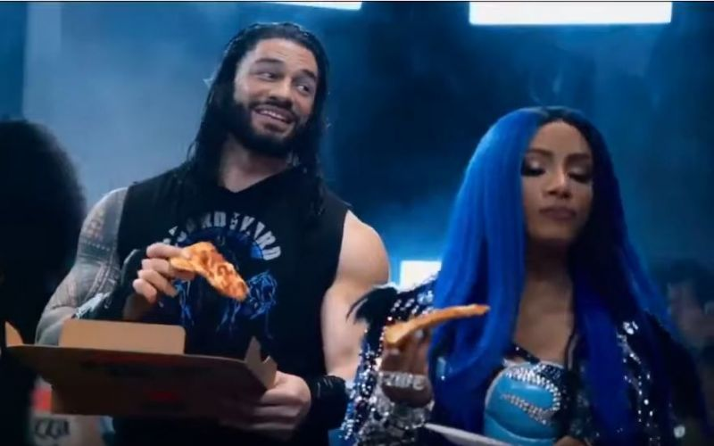 Roman Reigns and Sasha Banks were featured in a commercial