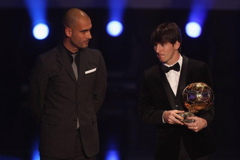 Messi enjoyed tremendous success under Guardiola at Barcelona