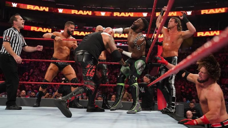 Cedric in action on RAW, back when he was being featured prominently on the Red brand