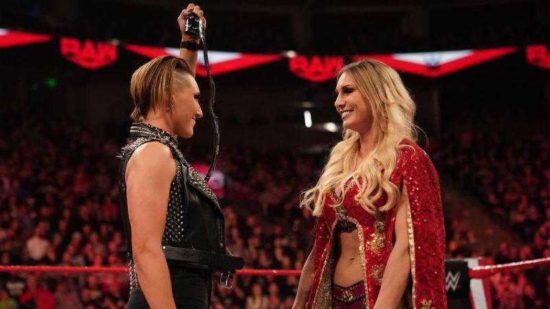Charlotte Flair and Rhea Ripley teased a WrestleMania Dream Match!