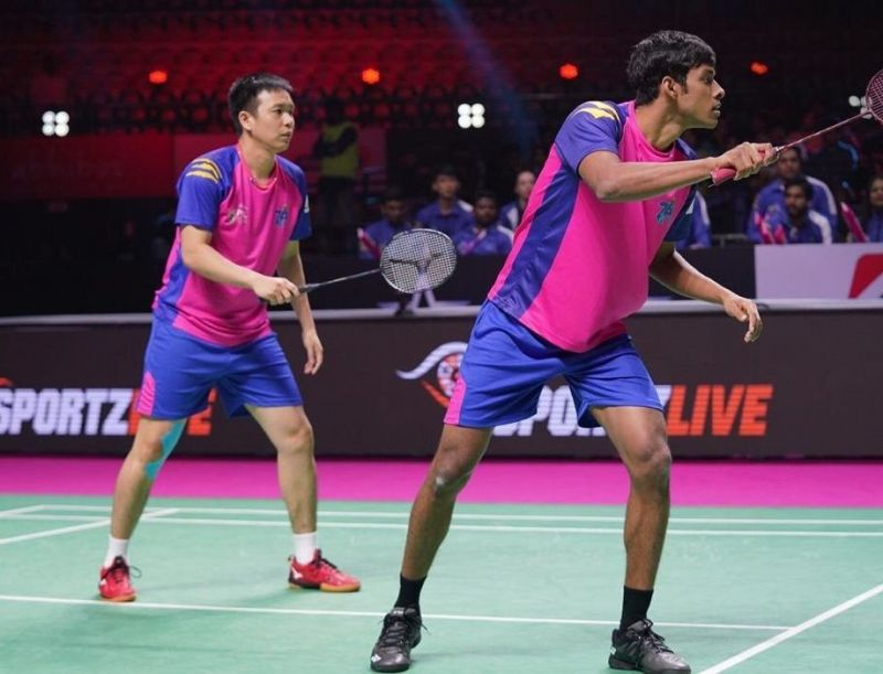Chirag Shetty and Hendra Setiawan of Pune 7 Aces (Image Credits - PBL)