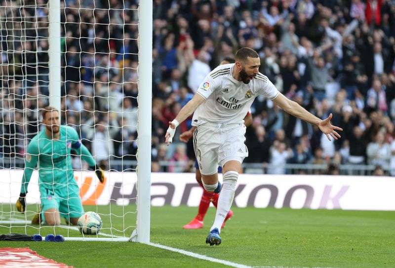 Benzema ended his drought with a well-taken strike
