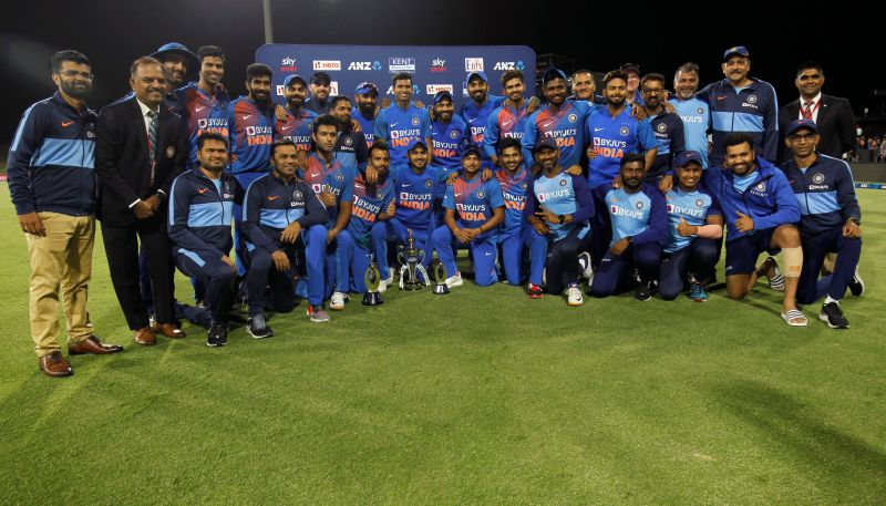 India celebrate another series win