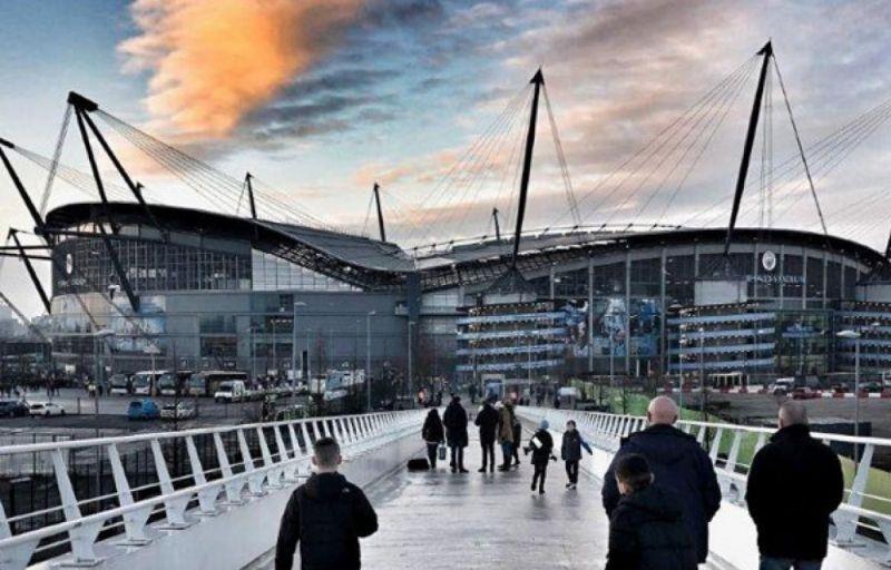 Etihad Stadium in Manchester.