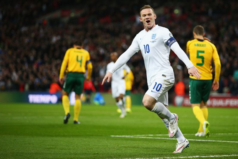 Rooney holds the all-time goalscoring record for England