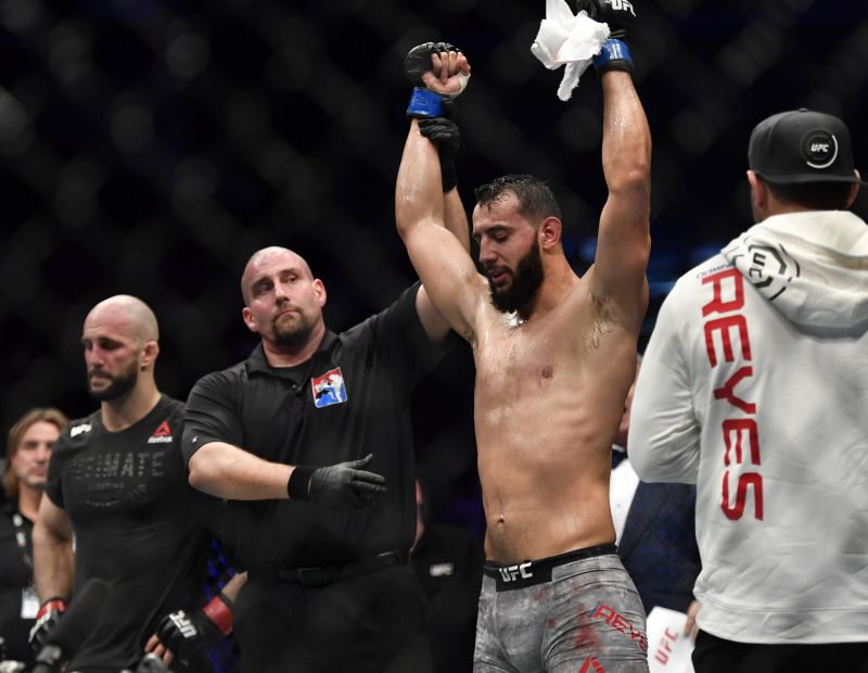 Dominick Reyes (right) following his win over Volkan Oezdemir (Image Courtesy: LowKick MMA)
