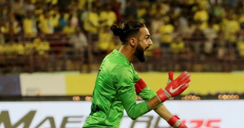 Amrinder Singh pulled off a stunning save against Jamshedpur FC
