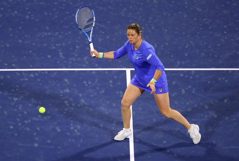 Kim Clijsters competing at the Dubai Duty Free Tennis Championships for the first time
