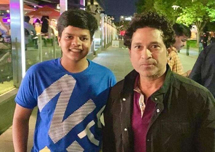 Sachin Tendulkar with Shafali Verma (Image Courtesy: Twitter)