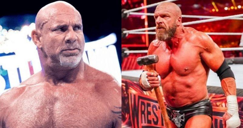 Goldberg and Triple H.