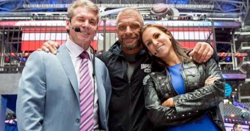 Vince McMahon, Triple H, and Stephanie McMahon.