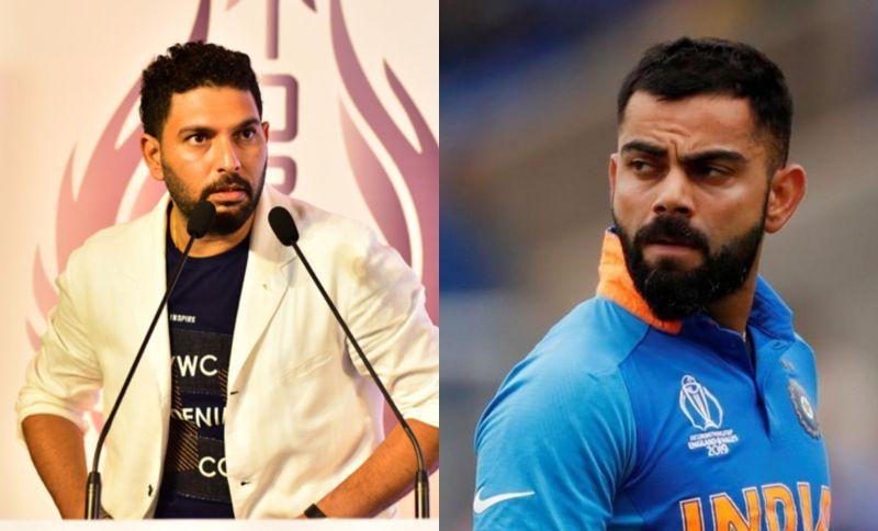 Yuvraj Singh and Indian skipper Virat Kohli