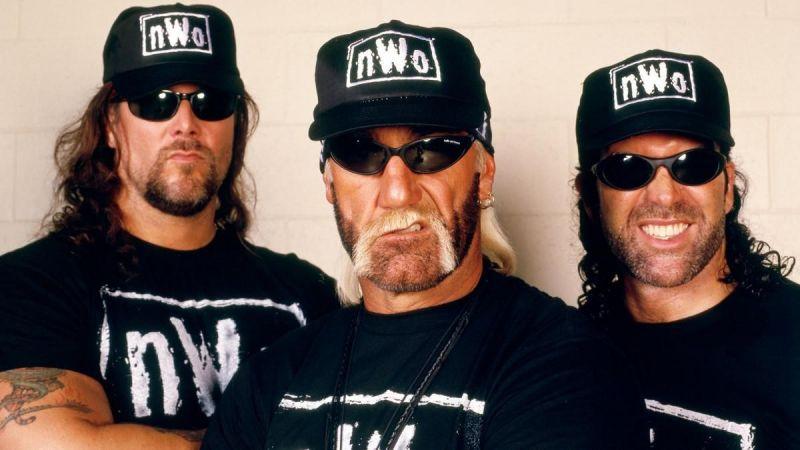 Kevin Nash, Hulk Hogan, and Scott Hall of the nWo