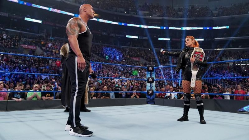 The Rock and Becky Lynch