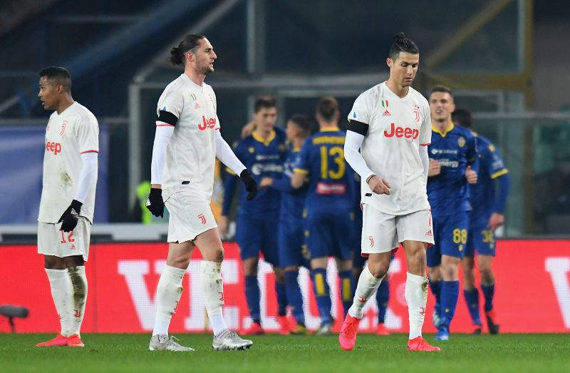 Hellas Verona shocked Juventus 2-1 at home to go sixth in the table