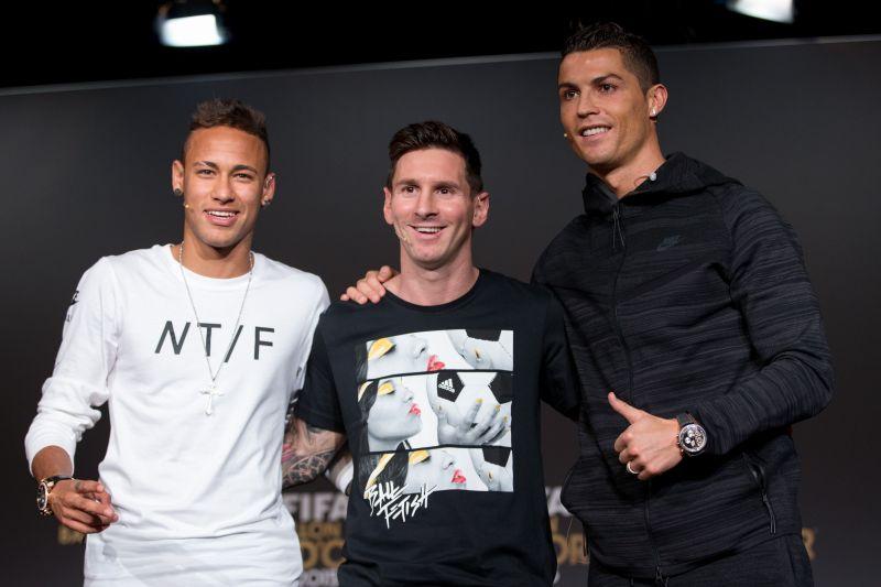 Neymar Jr, Lionel Messi and Cristiano Ronaldo