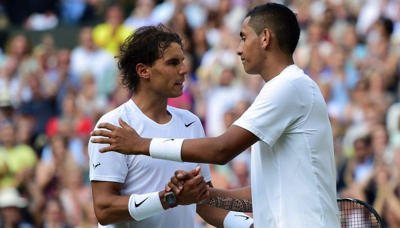 Kyrgios burst on to the tennis scene after defeating Nadal at Wimbledon in 2014