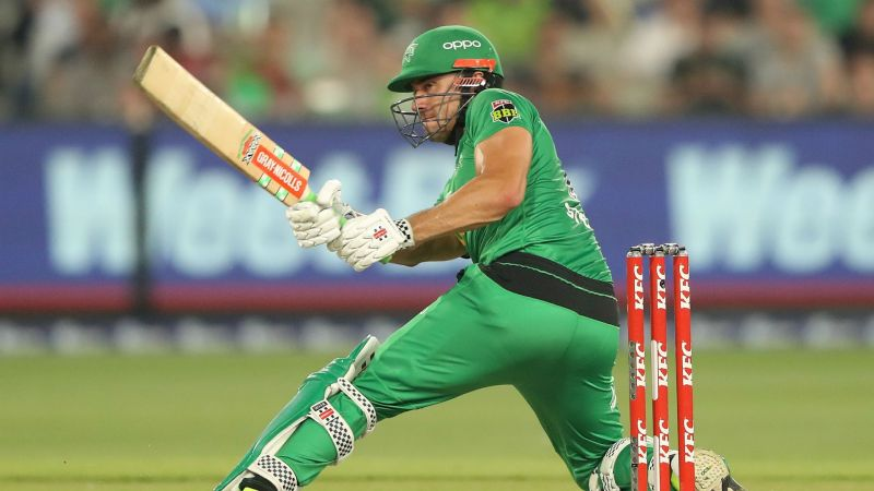 Marcus Stoinis in action