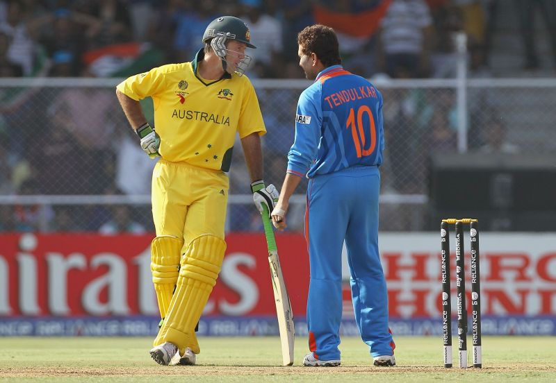 Ricky Ponting (left) and Sachin Tendulkar (right)