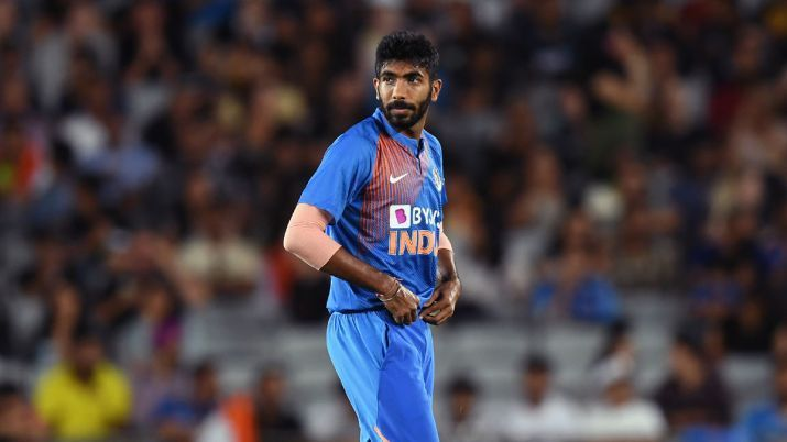 Bumrah stares down his teammates after a comedy of errors in the field