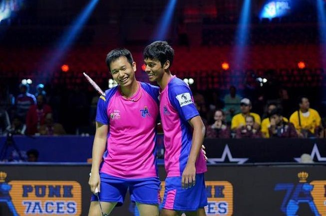 Hendra Setiawan & Chirag Shetty of Pune 7 Aces (Image Credits - PBL)