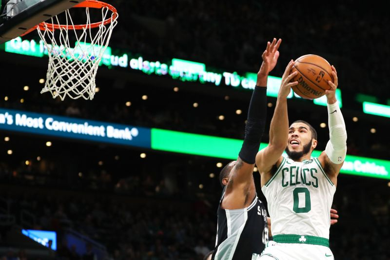 Jayson Tatum is averaging 22.1 points, 6.8 rebounds, and 1.4 steals a game this season.