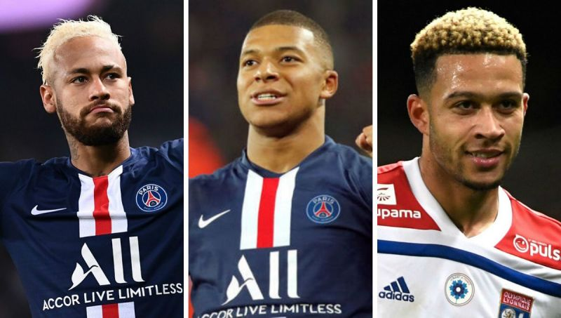 Neymar, Mbappe and Depay all feature in this list...