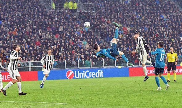 Ronaldo scores a wonder goal against his present club Juventus