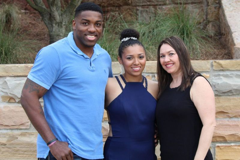Walt Harris with wife, Angela and stepdaughter, Aniah