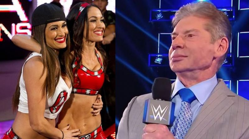 The Bella Twins and Vince McMahon